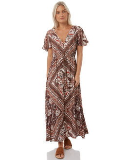 BROWN WOMENS CLOTHING ARNHEM DRESSES - ARMABR03BRO