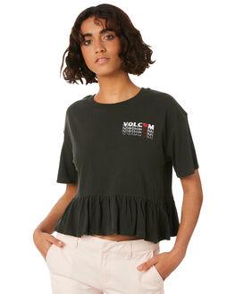 VINTAGE BLACK WOMENS CLOTHING VOLCOM TEES - B0141815VBK