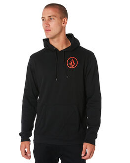 BLACK RED MENS CLOTHING VOLCOM JUMPERS - A41118BLKRD