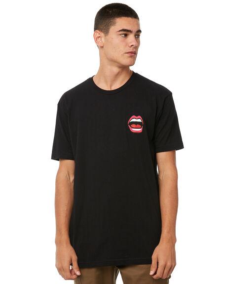 BLACK MENS CLOTHING BLIND TEES - 20072010BLK