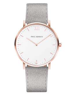 ROSE GOLD WHITE  GRY WOMENS ACCESSORIES PAUL HEWITT WATCHES - PH-SA-R-SM-W-37S