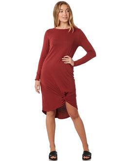 BURGUNDY WOMENS CLOTHING SILENT THEORY DRESSES - 6015011BURG