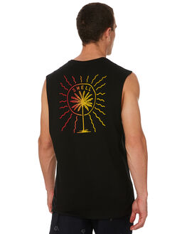 BLACK OUTLET MENS SWELL SINGLETS - S5182271BLACK
