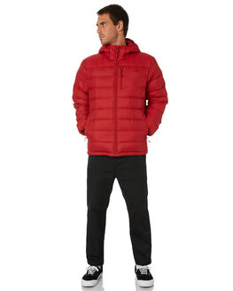 CARDINAL RED MENS CLOTHING THE NORTH FACE JACKETS - NF0A3KU9619