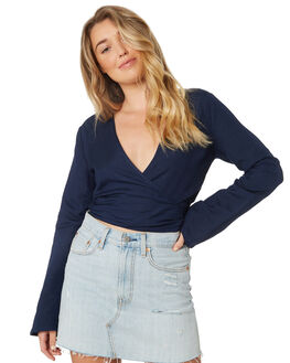 DARK BLUE WOMENS CLOTHING ALL ABOUT EVE FASHION TOPS - 6423031NVY