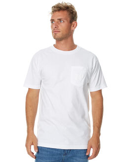 WHITE MENS CLOTHING PASS PORT TEES - PPPUFFWHT