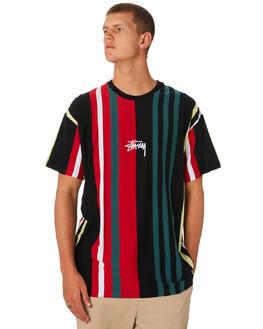 BLACK MENS CLOTHING STUSSY TEES - ST091106BLK
