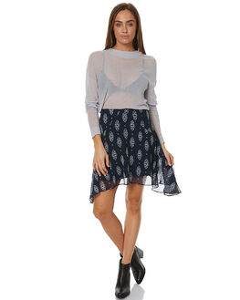 NAVY FLORAL WOMENS CLOTHING THE FIFTH LABEL SKIRTS - TX170447SK-PRT2NVFL