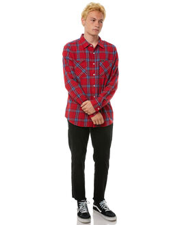 RED NAVY MENS CLOTHING BRIXTON SHIRTS - 01086RDNAV