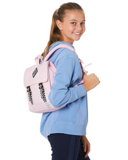 PINK CROSSHATCH KIDS GIRLS HERSCHEL SUPPLY CO BAGS + BACKPACKS - 10142-02565-OSPKCRS