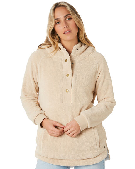 OATMEAL HEATHER WOMENS CLOTHING O'NEILL JUMPERS - 5921501OAT