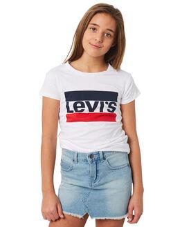 WHITE KIDS GIRLS LEVI'S TOPS - 37391-0183