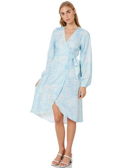 BLUE WOMENS CLOTHING TIGERLILY DRESSES - T305466BLU