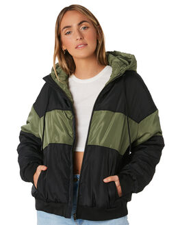 BLACK WOMENS CLOTHING RIP CURL JACKETS - GJKDH10090