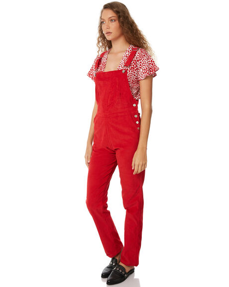 RED OUTLET WOMENS RUE STIIC PLAYSUITS + OVERALLS - SW18-46RDRED