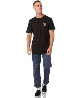 BLACK MENS CLOTHING VANS TEES - VNA3W1NBLKBLK