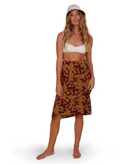 RED WOMENS CLOTHING BILLABONG SKIRTS - BB-6507700M-RED