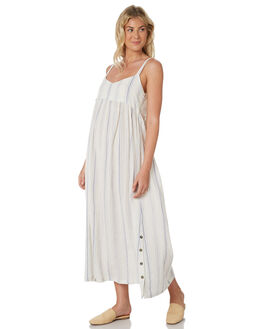 WHITE BLUE STRIPE WOMENS CLOTHING SAINT HELENA DRESSES - SHS19119STP
