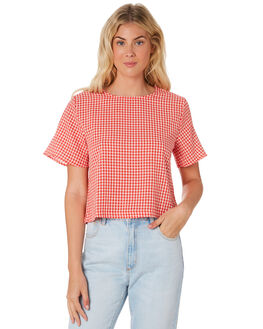RED WHITE WOMENS CLOTHING HUFFER FASHION TOPS - WTP84S6801-189