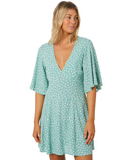 TURQUOISE WOMENS CLOTHING MINKPINK DRESSES - MP1908476TURQ
