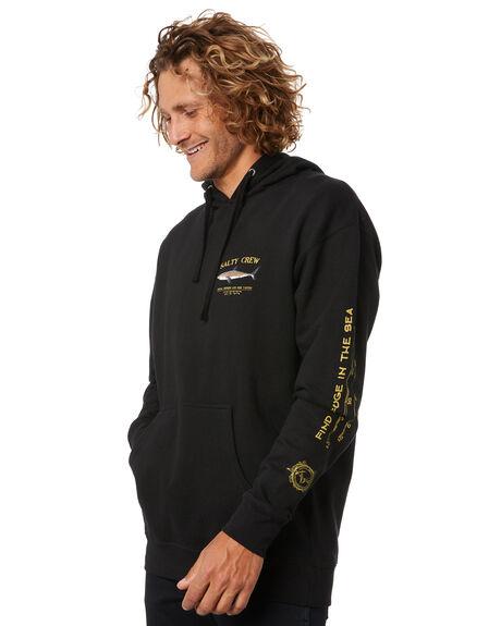 BLACK MENS CLOTHING SALTY CREW HOODIES + SWEATS - 20335029BLK