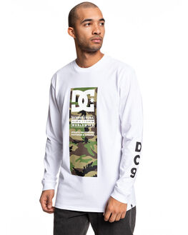 SNOW WHITE MENS CLOTHING DC SHOES TEES - UDYZT03663-WBB0