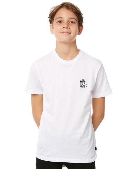 WHITE KIDS BOYS GLOBE TEES - GB41830002WHT