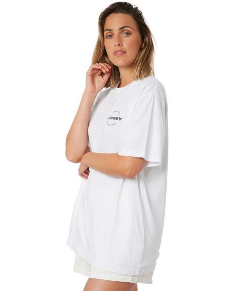 WHITE WOMENS CLOTHING STUSSY TEES - ST102007WHT