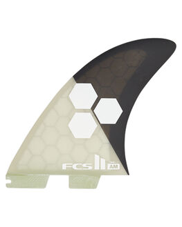 BACK WHITE BOARDSPORTS SURF FCS FINS - FAMX-PC02-XL-TS-RBKW