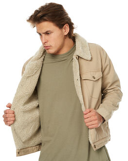 KHAKI MENS CLOTHING ROLLAS JACKETS - 20092300