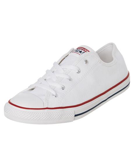 WHITE WOMENS FOOTWEAR CONVERSE SNEAKERS - 564981WHI