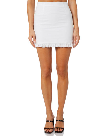 WHITE WOMENS CLOTHING CHARLIE HOLIDAY SKIRTS - GSW8002WHT