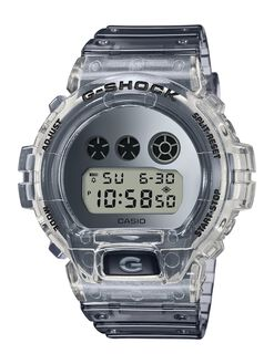 TRANSPARENT GREY MENS ACCESSORIES G SHOCK WATCHES - DW6900SK-1DTRGRY