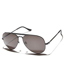 BLACK BLACK MENS ACCESSORIES VALLEY SUNGLASSES - S0096BLK