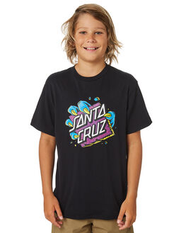 BLACK KIDS BOYS SANTA CRUZ TOPS - SC-YTA9169BLK