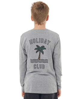 GREY MARLE KIDS BOYS TEE INK TEES - YT1034GRYM