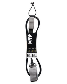 BLACK GREY BOARDSPORTS SURF JAM TRACTION LEASHES - LH6M6FBLK
