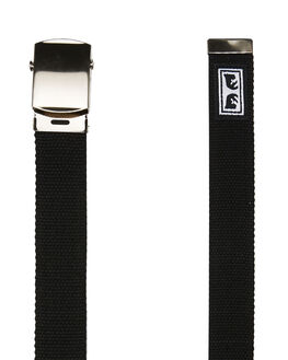 BLACK MENS ACCESSORIES OBEY BELTS - 100050026BLK