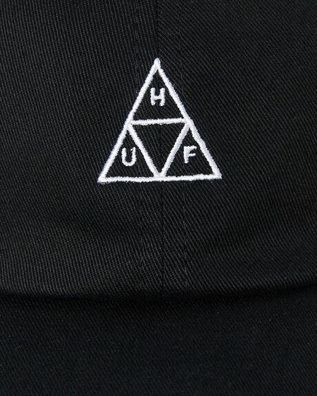 BLACK MENS ACCESSORIES HUF HEADWEAR - HT00346-BLACK