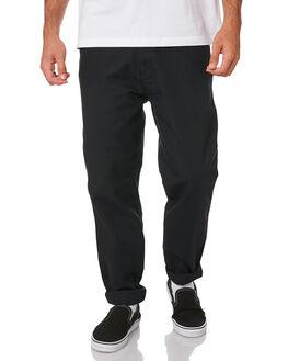 BLACK MENS CLOTHING DEUS EX MACHINA PANTS - DMW94018BLK