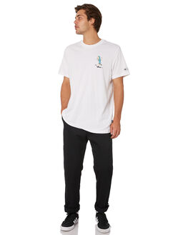WHITE MULTI COLOUR MENS CLOTHING ADIDAS TEES - DU3930WHT