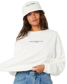 DIRTY WHITE WOMENS CLOTHING THRILLS JUMPERS - WTWT20-215ADWHT