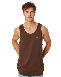 COFFEE MENS CLOTHING AFENDS SINGLETS - M184082COFFE