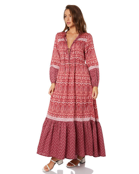 BURGUNDY WOMENS CLOTHING TIGERLILY DRESSES - T305453BUR