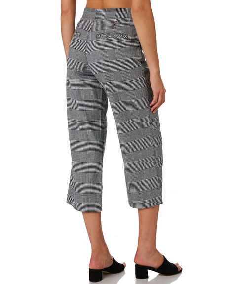 GREY PLAID OUTLET WOMENS COOLS CLUB PANTS - 707-CW2GREY