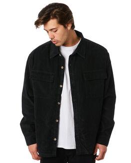 BLACK MENS CLOTHING STUSSY SHIRTS - ST097403BLK