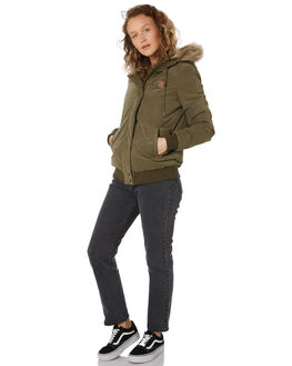 DARK CAMO WOMENS CLOTHING VOLCOM JACKETS - B1511977DCA