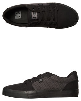 BLACK DK SHADOW MENS FOOTWEAR DC SHOES SNEAKERS - ADYS300036BDH