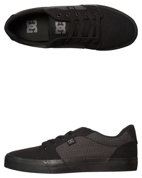BLACK DK SHADOW MENS FOOTWEAR DC SHOES SNEAKERS - ADYS300036BDH
