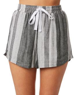 GREY STRIPE WOMENS CLOTHING ELWOOD SHORTS - W93611BIQ